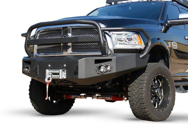 FabFours VENGEANCE FULL GUARD Truck Front Bumper 2010+ DODGE 2500-5500 DR10-A2950-1 - BumperOnly