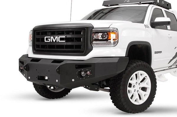 Fab Fours GMC Sierra 1500 2014-2015 Front Bumper Sensor Winch Ready No Guard GS14-F3151-1