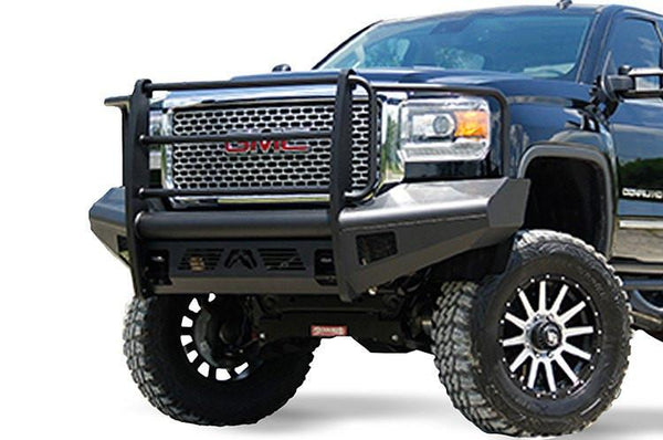 Fab Fours GMC Sierra 2500/3500 2015-2018 Front Bumper Full Guard with Tow Hooks GM14-Q3160-1