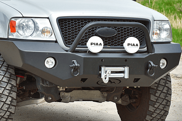 Expedition One Ford F150 2004-2008 Front Bumper With Center Hoop Winch Ready FORDF150FB100_04-08_HPC