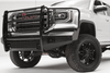 Fab Fours GM07-K2160-1 GMC Sierra 1500 2007-2013 Black Steel Front Bumper Full Guard with Tow Hooks