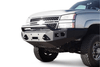 Road Armor 370R4Z 2003-2007 Chevy Silverado 2500/3500 Stealth Front Winch Ready Bumper Pre-Runner Style, Raw Finish and Square Fog Light Hole