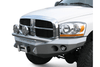 Road Armor 44074Z 2006-2008 Dodge Ram 1500 Stealth Front Winch Ready Bumper Pre-Runner Style, Raw Finish and Round Fog Light Hole