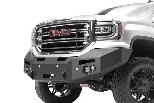 Fab Fours GS16-F3951-1 GMC Sierra 1500 2016-2018 Premium Front Bumper Sensor Winch Ready No Guard