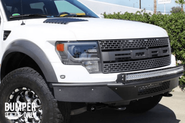 ADD F014412900103 Ford F150 Raptor 2010-2014 Race Series-R Front Bumper Plastic Valence with Mount for 10 Single Lights On Top and 20'' LED Mount In Center