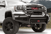 Fab Fours GM07-K2162-1 GMC Sierra 1500 2007-2013 Black Steel Front Bumper Pre-Runner Guard with Tow Hooks