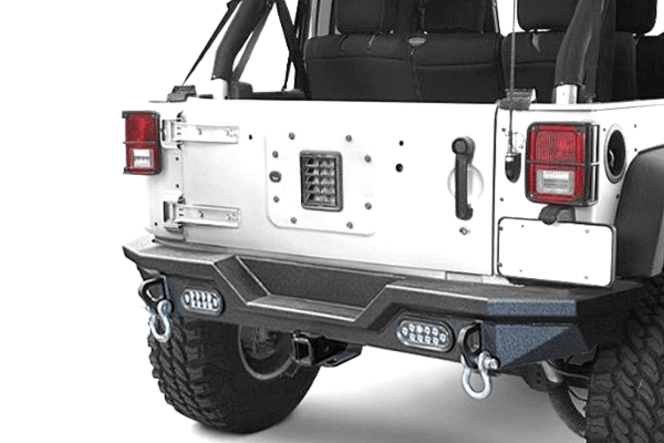 DV8 Offroad Jeep Wrangler JL 2018-2020 Full-Width High Clearance Rear Bumper RBJL-03