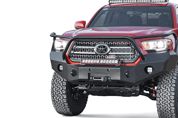 Expedition One Range Max Toyota Tacoma 2016-2020 Front Bumper With Bull Bar Winch Ready TACO16+-FB-BB-PC