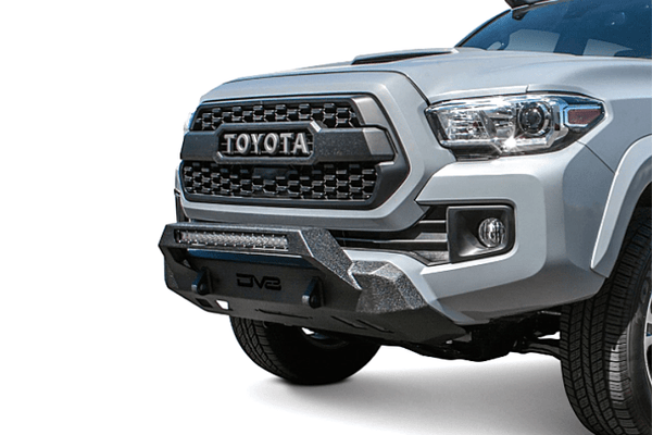 DV8 Offroad Toyota Tacoma 2016-2021 Front Bumper With Hoop Winch Ready FBTT1-05