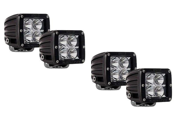 2 Pairs Rigid Industries 20211 3'' D-Series Flood Fog Light