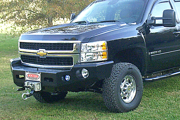Buckstop C190A4 Chevy Silverado 2500/3500 2020 No Grill Front Bumper Winch Ready With Tow Hooks