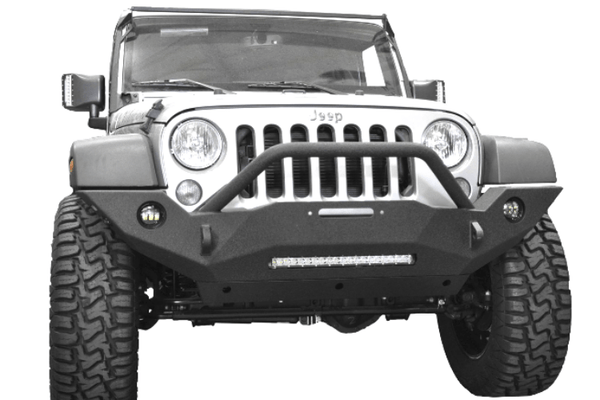 DV8 Offroad Jeep Gladiator JT 2020 Hammer Forged Front Bumper Full-Length with Fog Light Holes Winch Ready FBSHTB-18