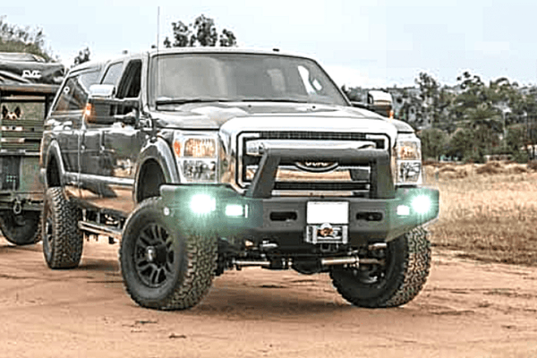 Buckstop F175A4 Ford F450/F550 Superduty 2020 Boss Front Bumper Winch Ready with Tow Hooks