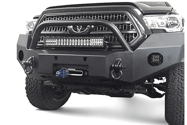 Expedition One Range Max Toyota Tacoma 2016-2020 Front Bumper With Center Hoop Winch Ready TACO16+FB-H-PC