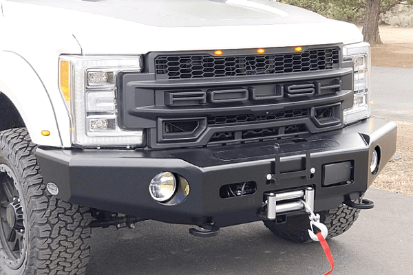Buckstop F170A5 Ford F250/F350 Superduty 2020-2021 No Grill Front Bumper Winch Ready with Tow Hooks