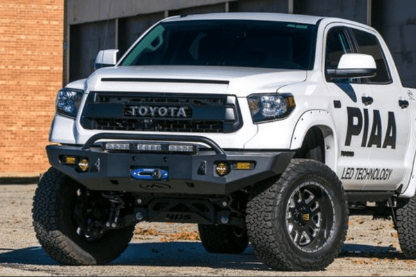 Expedition One Storm Trooper Toyota Tundra 2014-2021 Front Bumper With Center Hoop Winch Ready TT14+-FB-ST-H-PC