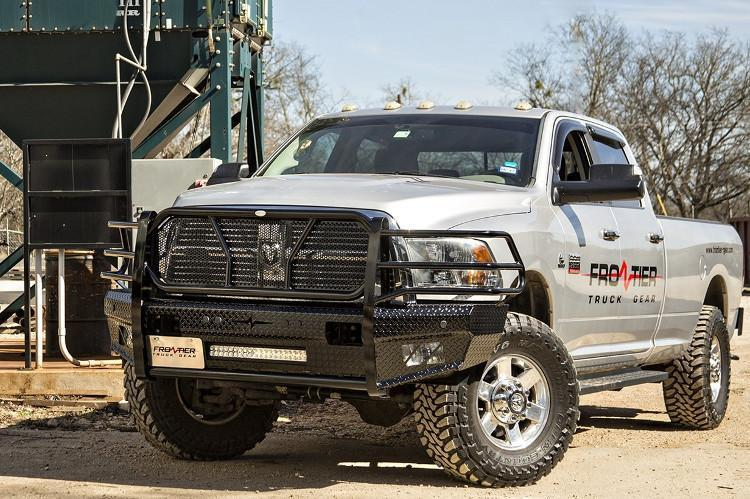 Frontier 300-41-0007 Dodge Ram 2500/3500 2010-2019 Front Bumper with Sensor  Holes and Light Bar