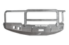 Road Armor 314R5Z 2014-2015 Chevy Silverado 1500 Front Bumper, Raw, Lonestar Guard, Stealth Series, Square Fog Light Hole, Winch-Ready