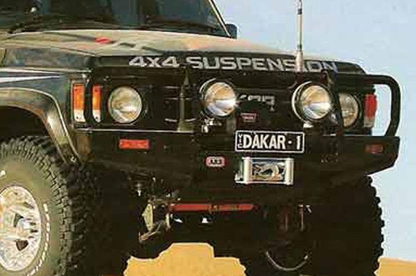 ARB 3410100 Toyota Land Cruiser 1980-1989 Deluxe Front Bumper 60 Series Winch Ready with Grille Guard, Black Powder Coat Finish