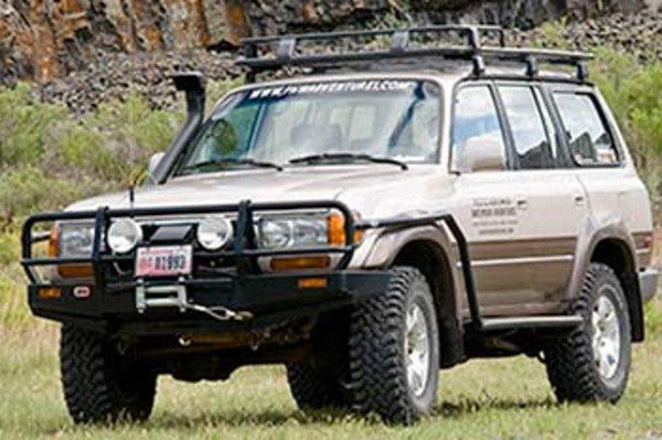 ARB Toyota Land Cruiser 1990-1997 Front Bumper 80 Series Winch Ready with Grille Guard, Black Powder Coat Finish 3411050