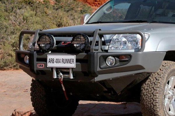 ARB 3421510 Toyota 4 Runner 2006-2009 Deluxe Front Bumper Winch Ready with Grille Guard, Black Powder Coat Finish