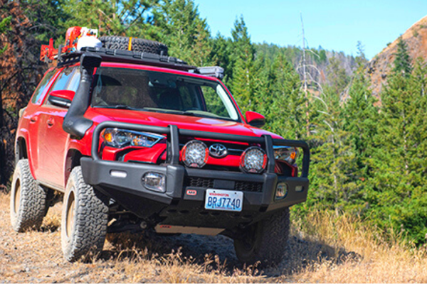 ARB 3421570K Toyota 4 Runner 2014-2021 Summit Bar Front Bumper Winch Ready with Grille Guard Powder Coat Finish