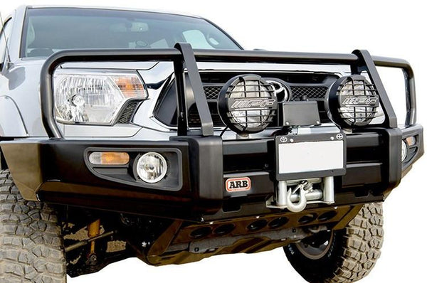 ARB 3423020 Toyota Tacoma 1995-2004 Deluxe Front Bumper Winch Ready with Grille Guard, Satin Black Powder Coat Finish