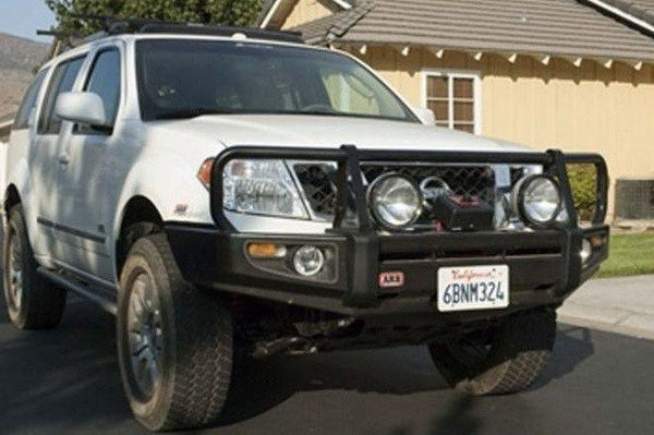 ARB Nissan Pathfinder 2005-2007 Front Bumper Winch Ready with Grille Guard, Black Powder Coat Finish 3438260