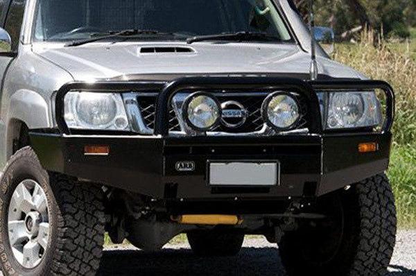 ARB 3438260 Nissan Pathfinder 2005-2007 Deluxe Front Bumper Winch Ready with Grille Guard, Black Powder Coat Finish