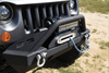 DV8 Offroad Jeep Wrangler JL 2018-2019 Hammer Forged Front Bumper Stubby Winch Ready FBSHTB-15
