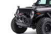 Go Rhino 331101T Jeep Wrangler JL 2018-2019 Rockline Front Bumper  Stubby With Overrider Bar