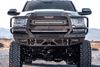 Bodyguard JER19BYG Dodge Ram 2500/3500 2019-2021 FT Front Bumper With Sensor Fog Light Cutouts Receiver Tube Gloss Black Powder Coat
