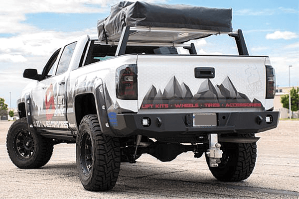 Expedition One Chevy Silverado 1500 2016-2021 Rear Bumper CHV1500-16+RB-PC