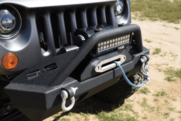 DV8 Offroad Jeep Gladiator JT 2020 Hammer Forged Front Bumper Stubby Winch Ready FBSHTB-15