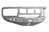Road Armor 407R2Z 2006-2008 Dodge Ram 1500 Front Bumper, Raw, Titan II Guard, Stealth Series, Square Fog Light Hole, Winch-Ready