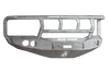 Road Armor 44072Z 2006-2008 Dodge Ram 1500 Front Bumper, Raw, Titan II Guard, Stealth Series, Round Fog Light Hole, Winch-Ready