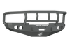 Road Armor 47012B 1997-2002 Dodge Ram 2500/3500 Front Bumper, Black Finish, Titan II Guard, Stealth Series, Round Fog Light Hole, Winch-Ready