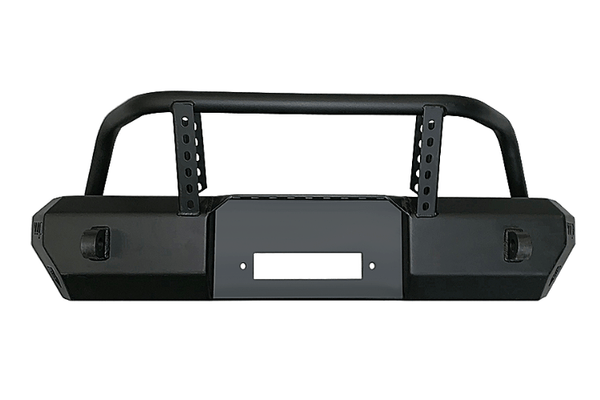 Warrior 6577 Jeep Wrangler JK 2007-2018 MOD Series Front Bumper Stubby With Brush Guard