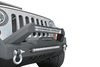 DV8 Offroad Jeep Gladiator JT 2020 Hammer Forged Front Bumper Mid-Length with Fog Light Holes Winch Ready FBSHTB-17