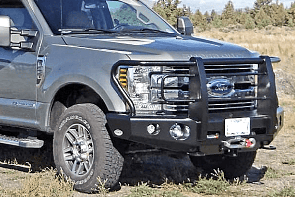 Buckstop F170A3 Ford F250/F350 Superduty 2020 Outback Front Bumper Winch Ready with Tow Hooks
