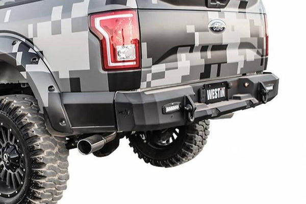 Westin 58-241705S Rear Bumper Ford F250/F350 Superduty 2015-2017 with Sensors Textured Black Finish HDX