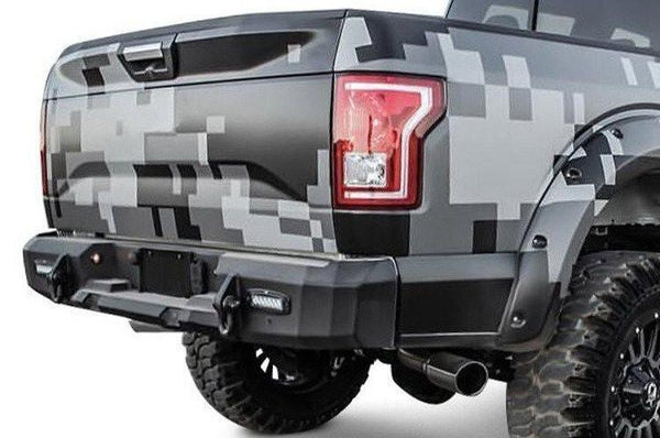 Westin Chevy Silverado 2500/3500 2015-2017 Rear Bumper with Sensors Textured Black Finish  58-251505S