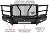 Westin 58-31175 Dodge Ram 2500/3500 2010-2018 HDX Bandit Front Bumper Non-Winch Black Finish