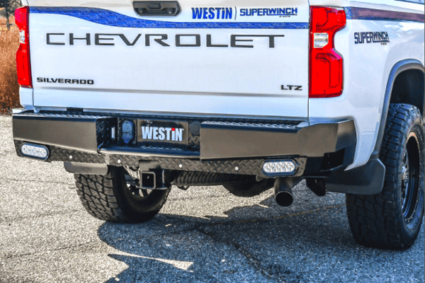 Westin 58-341185 GMC Sierra 2500/3500 2020 HDX Bandit Rear Bumper Black Finish