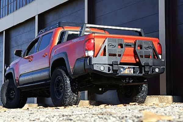 Expedition One Range Max 3rd Gen Toyota Tacoma 2016-2020 Dual Swing Rear Bumper TACO16+RB-DSTC-PC