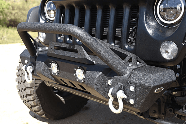 DV8 Offroad Jeep Gladiator JT 2020 Front Bumper Stubby with Led Lights Winch Ready FBSHTB-11