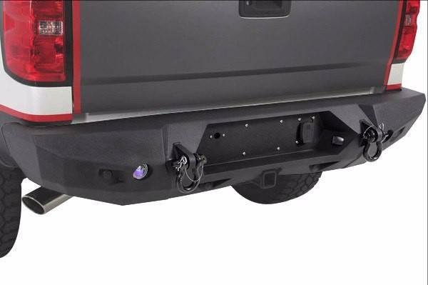2014-2018 Smittybilt Chevy Silverado 1500 614822 M-1 Rear Bumper textured black - BumperOnly