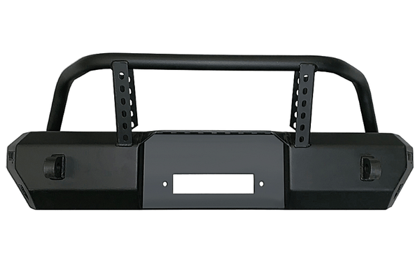 Warrior 6537 Jeep Wrangler JL 2018-2020 MOD Series Front Bumper Stubby With Brush Guard