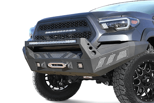 DV8 Offroad Toyota Tacoma 2016-2020 Front Bumper With Light Bar Mount Winch Ready FBTT1-03