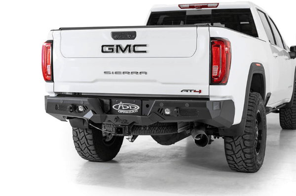 ADD R270021280103 GMC Sierra 2500 2020 Bomber HD Rear Bumper with Blind Spot and Sensor Cutouts